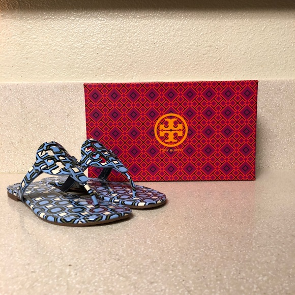 117711b0f3b1 Tory Burch Shoes - Tory Burch Printed Patent Miller Sandal Sz 7.5